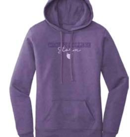 Port & Company Purple Womens Core Fleece Hoodie