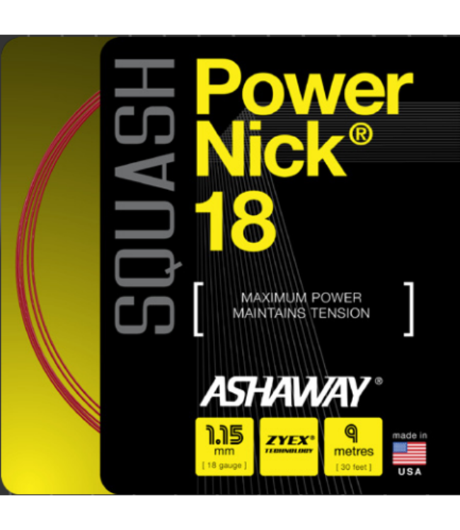 Ashaway Ashaway Powernick 18 Red Squash String
