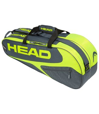 Head Head Elite 6R Combi Racket Bag (Grey/Neon)