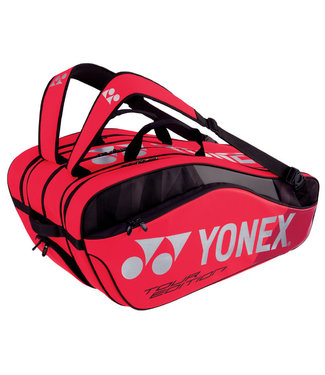 Yonex BAG9829EX Pro Racket Bag 9pcs (Black/Red)