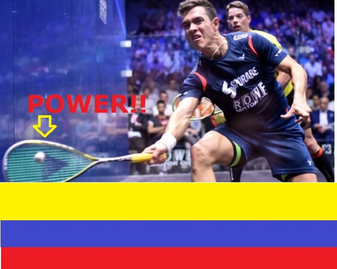 How can I get more power in my squash shots?