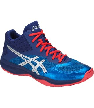 Asics Netburner Ballistic FF MT (Blue/Silver) Men's Indoor Shoe