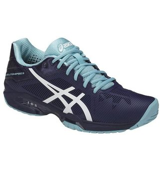 Asics Gel-Solution Speed 3 (Blue/White/Porcelain Blue)  Women's Tennis Shoe
