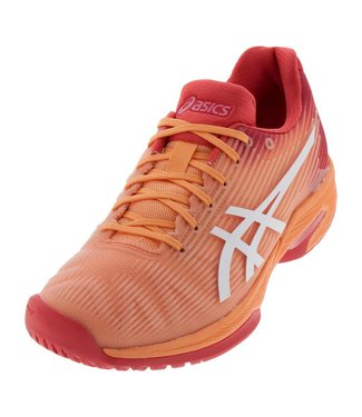 Asics Solution Speed FF (Mojave/White) Women's Tennis Shoe