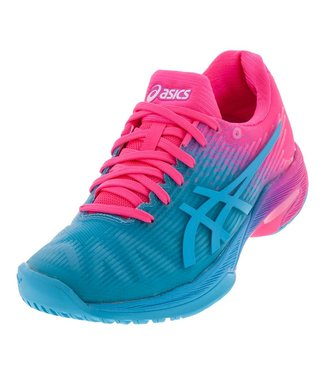 Asics Solution Speed FF (Pink/Blue) Women's Tennis Shoe