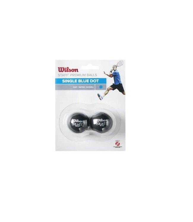 Wilson Blue Dot 2 Pack Squash Balls