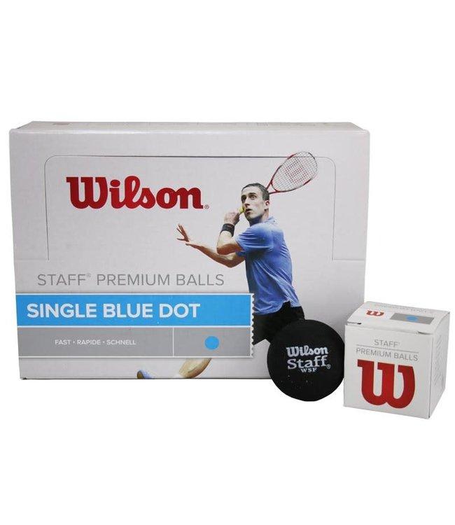 Wilson Staff Blue Dot Squash Balls- Dozen