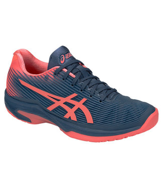Asics Solution Speed FF (Grand Shark/Papaya) Women's Tennis Shoe