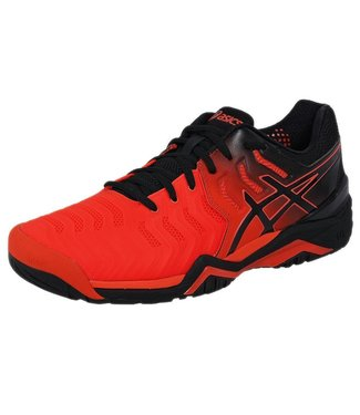 Asics Gel-Resolution 7 (Tomato/Black) Men's Tennis Shoe
