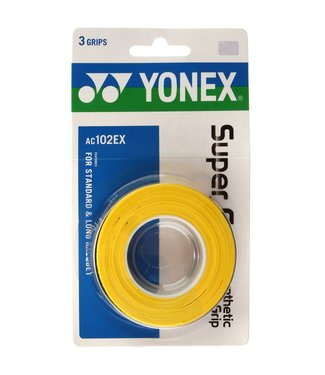 Yonex Super Grap Yellow 3-Pack Overgrip