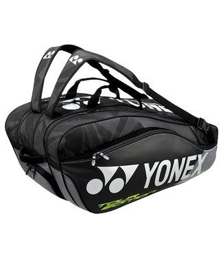 Yonex BAG9829EX Pro Racket Bag 9pcs (Black/Grey)
