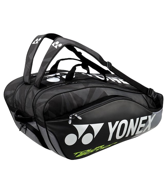 Yonex BAG9829EX Pro Racket Bag 9pcs (Black/Black) - Of Courts