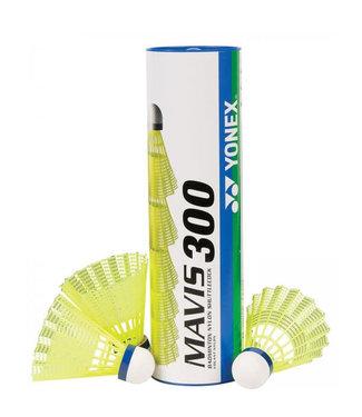 Yonex Mavis 300 Badminton Shuttles, Yellow, Medium Speed