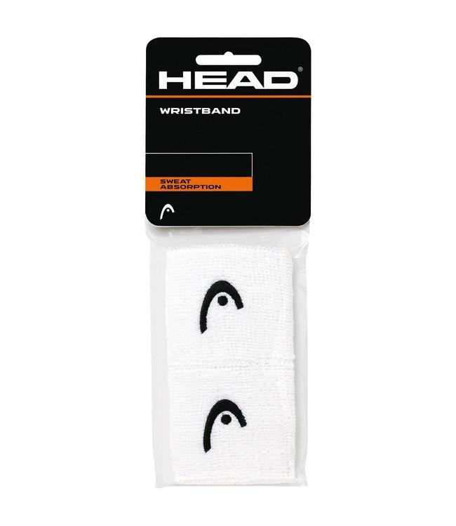 """Head 2.5"""" White Wristband (2-Pack)"""