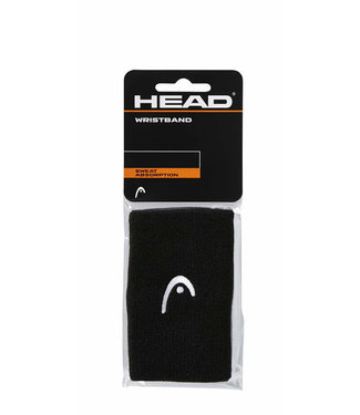 "Head 5"" Black Wristband (2-Pack)"