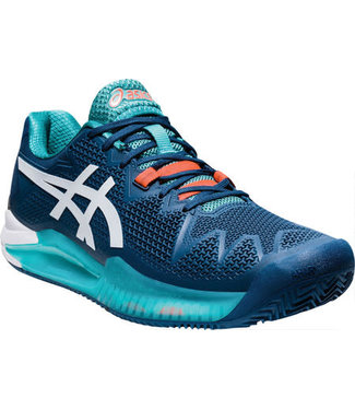 Asics Men's Gel-Resolution 8 - Mako Blue/White