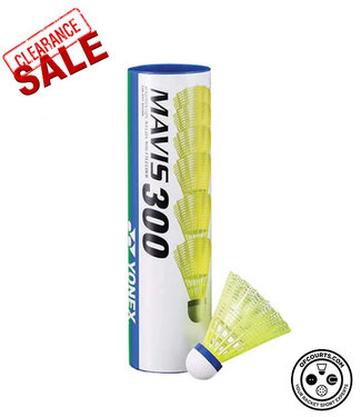 Yonex Mavis 300, Yellow, Medium Speed Badminton Shuttles