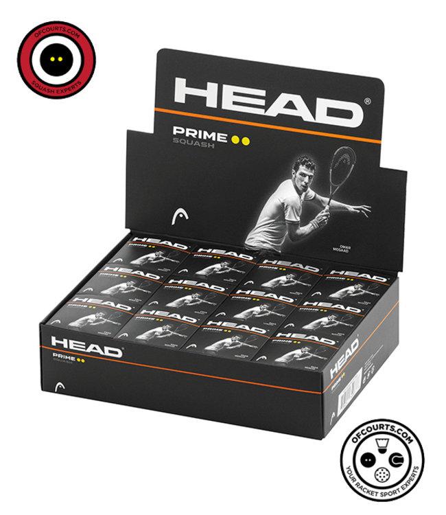 Head Prime Double Yellow Squash Ball- dozen