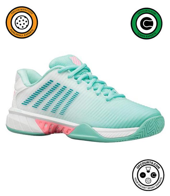 K-Swiss Hypercourt Express 2 Women's Tennis Shoe - Aruba Blue/White