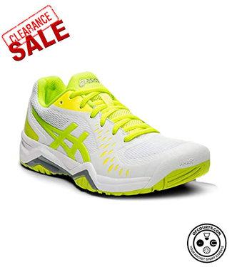 Asics Gel Challenger 12 Women's Tennis Shoe - White/Yellow