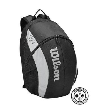 Wilson RF Team Backpack Racquet Bag (Black/White)
