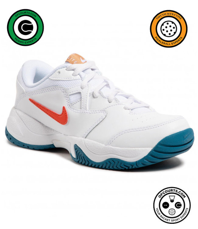 NIke Court Lite 2 Men's Tennis Shoe - White/Orange/Green