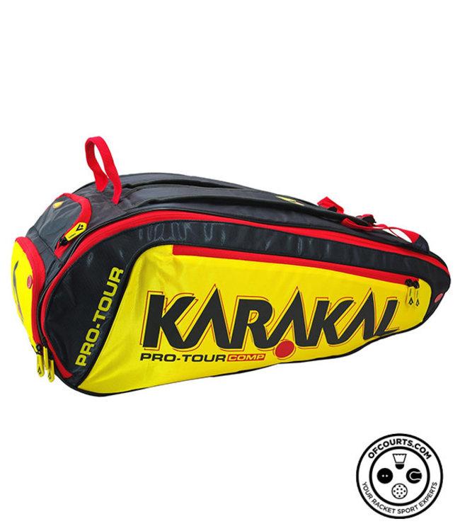 Karakal Pro Tour Comp 9 Racket Bag - black/yellow