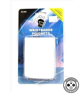 Black Knight AC-092 White Wristband (2-Pack)