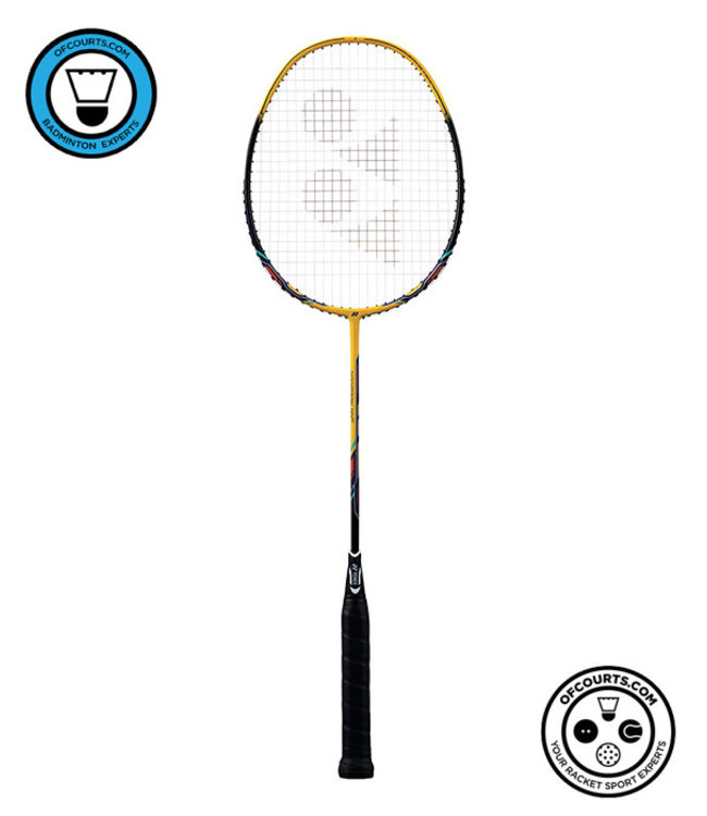 Yonex Nanoray 10 F (Yellow) Strung Badminton Racket