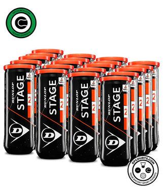 Dunlop Stage 2 Orange Tennis Balls – 24 Can Case