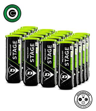Dunlop Starter Tennis Balls Green Dot – 24 Can Case