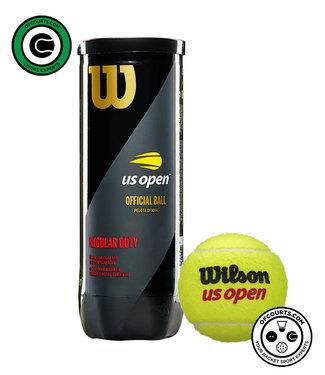 Wilson US Open Regular Duty Tennis Balls - 3 Can