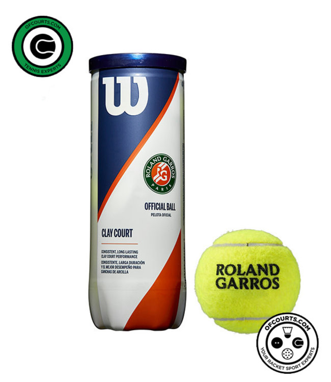 Wilson Roland Garros Clay Court Tennis Ball - 3 Can