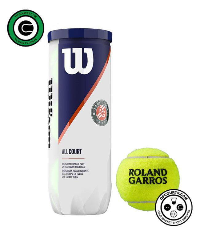 Wilson Roland Garros All Court Tennis Balls - 3 Can