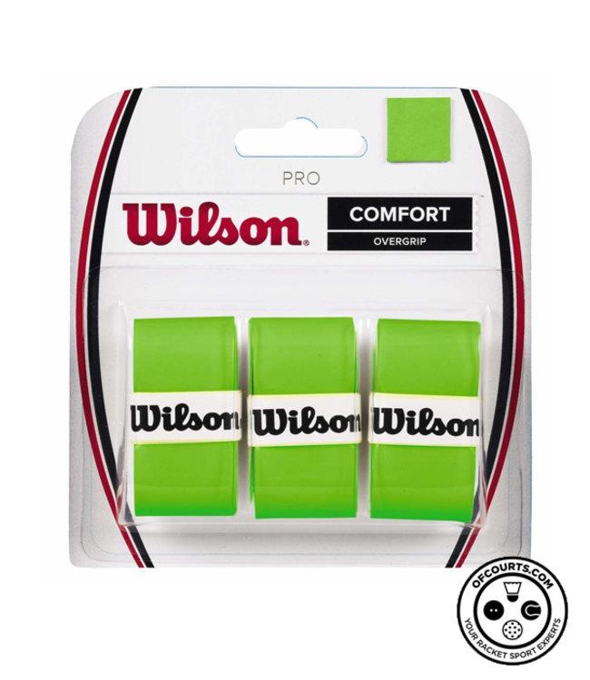 Wilson Pro Comfort Overgrip 3 Pack (Green)