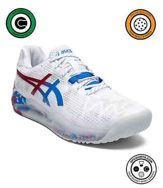 Asics Resolution 8 L.E. (Wht/Blue) Men's Shoe