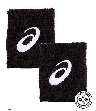 "Asics 4"" Black Wristband (2-Pack)"