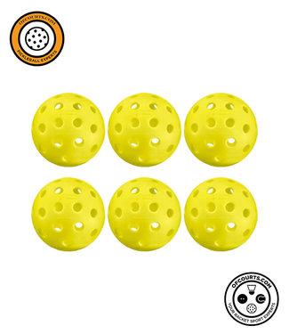 Penn 40 Outdoor Yellow Pickleball (6-Pack)