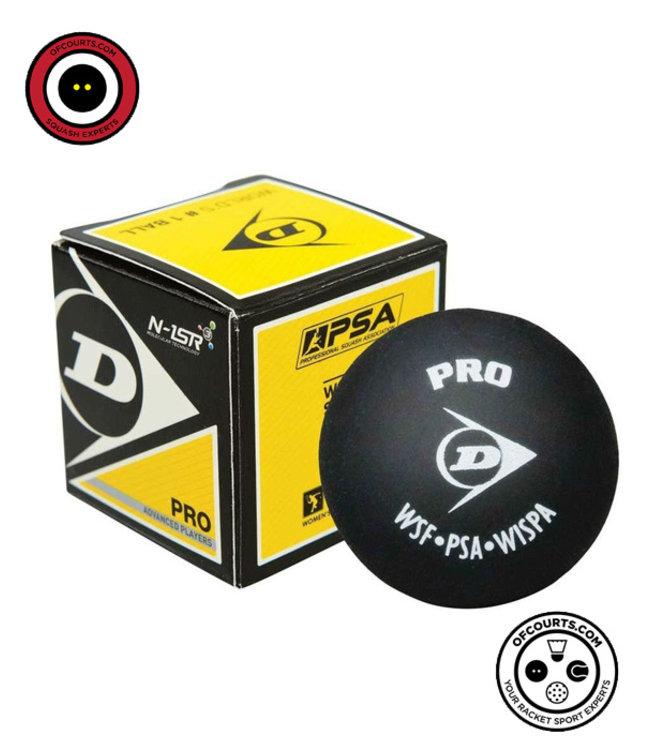 Dunlop Pro Double Dot Yellow squash ball