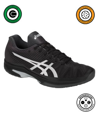 Asics Solution Speed FF (Black/Silver) Men's Tennis Shoe