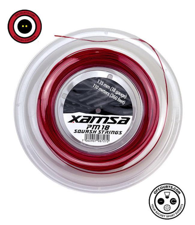 Xamsa PM 18 Squash Strings 110 m Reel - Red