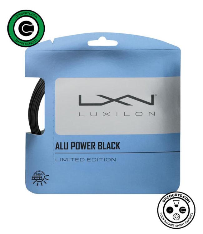 Luxilon ALU Power Black 125 Tennis String - Limited Edition