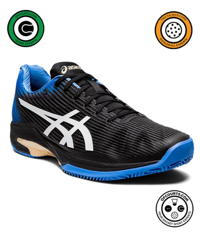 Asics Solution Speed FF Men's Tennis Shoe (Black/Blue Coast)