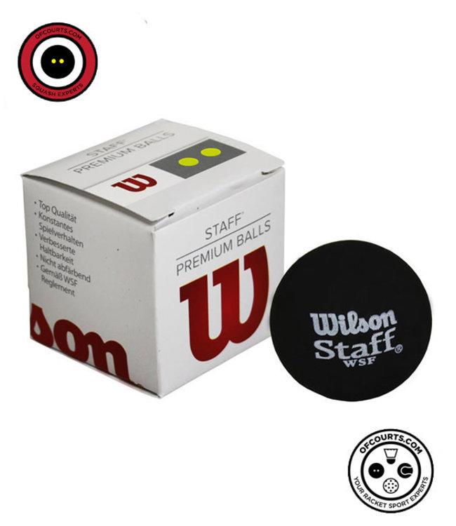 Wilson Staff Double Yellow Dot Squash Ball