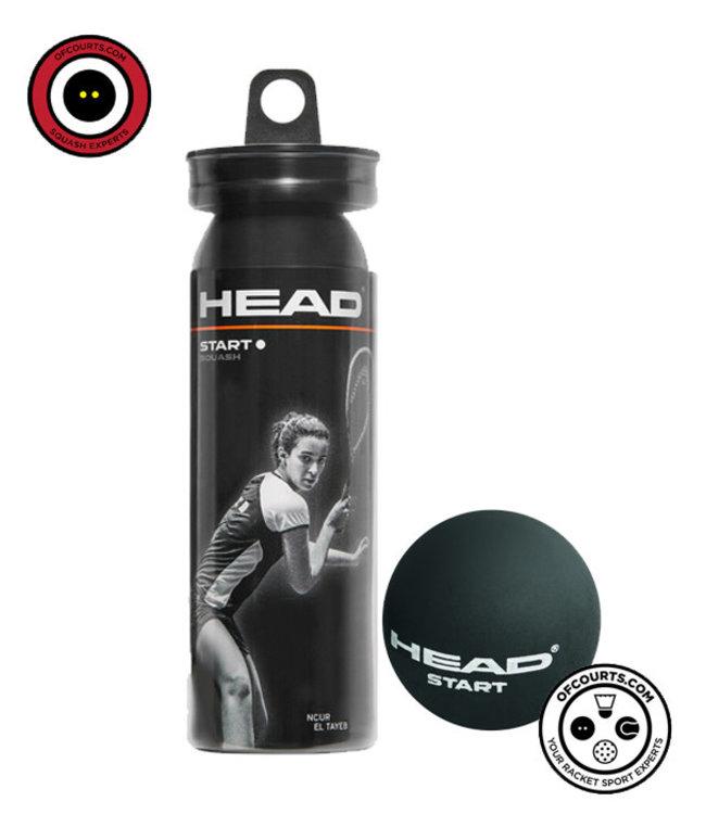 Head Start White Dot Squash Balls- Beginner 3 Tube