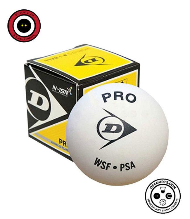 Dunlop Single Yellow Dot White Squash Ball