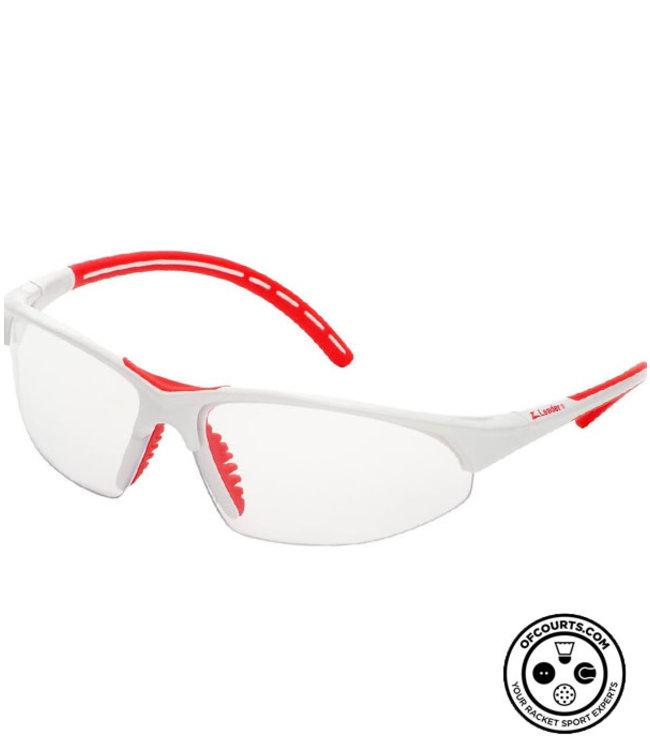 Leader Pro Sport Eyeguard (White/Red)
