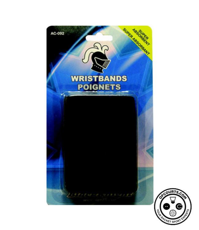 Black Knight AC-092 Black Wristband (2-Pack)