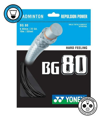 Yonex BG 80 Badminton String Black