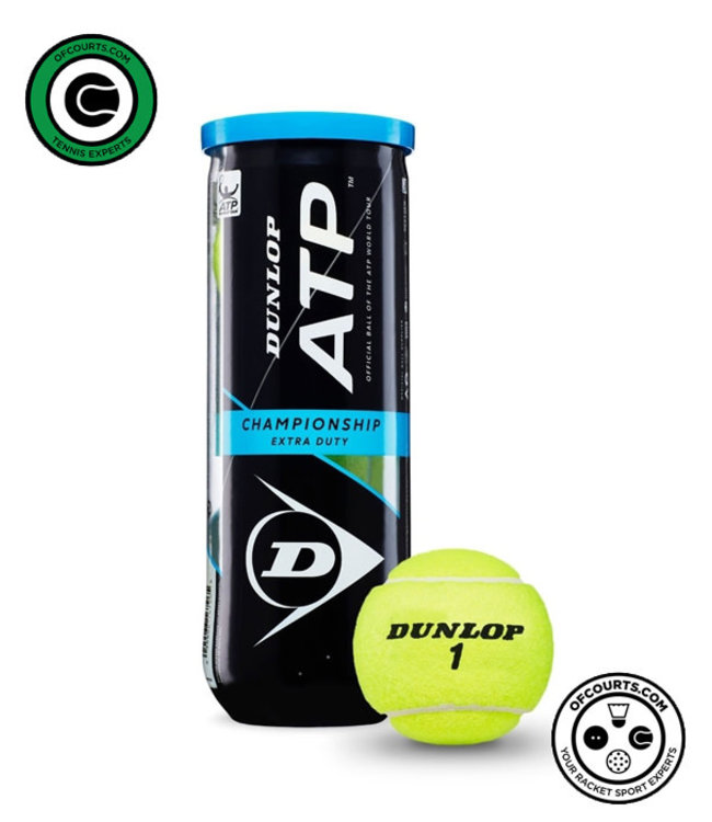 Dunlop ATP Championship Extra Duty Tennis Balls - 3 can